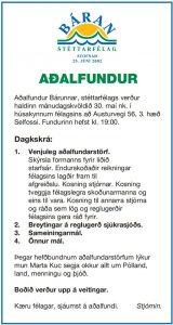 auglýsing aðalfundur